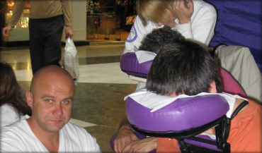 Seated Massage at an event